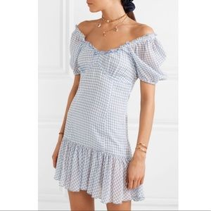 NWT LoveShackFancy Catalina Caspian Blue Dress 8